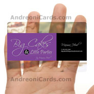 BigCkaes clear business cards