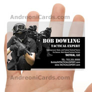 Bob Dowling transparent plastic business card