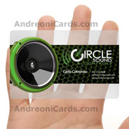 Clear Sound clear frosted plastic business card