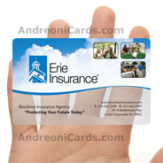 Erie Insurance clear frosted PVC card