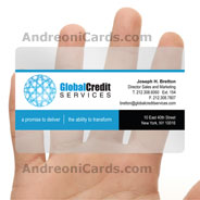 Global credit plastic business card