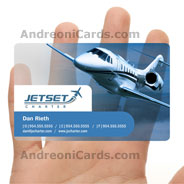 JetSet clear frosted plastic business card