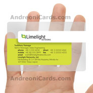 Limelight plastic business card