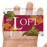 The Loft clear plastic discount card