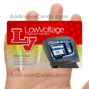 LowVoltage clear plastic business card