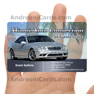 Miami Auto clear PVC card