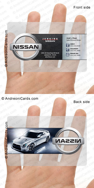 Clear plastic card design samples nissan clear plastic business card reheart Gallery