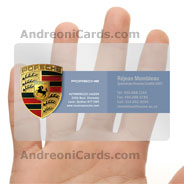 Porsche clear plastic business card