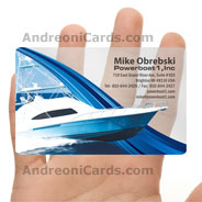 Powerboat inc. Plastic business cards