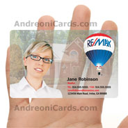 Remax clear frosted plastic business card