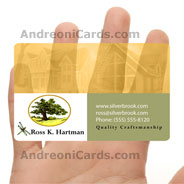 Ross Hartman plastic clear business card
