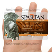 Spartan translucent plastic business card