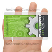 Studio art transparent plastic business card
