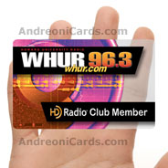 WHUR clear plastic membership card