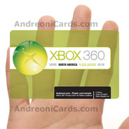 XBOX clear plastic promotional card