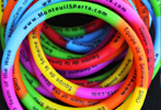 Full color, printed silicone bracelets