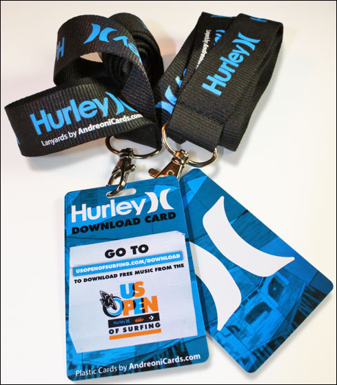 Lanyard for Hurley download plastic cards