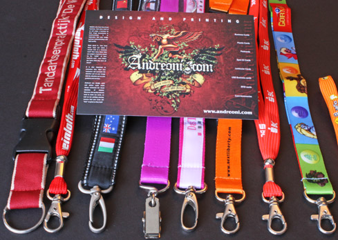 Lanyards for plastic id cards, vip cards