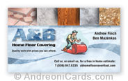 Business Cards Design Sample for A&B