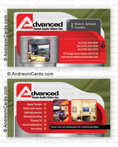 Business card design sample | Advanced