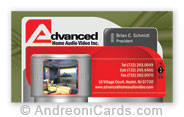 Advanced business card design sample