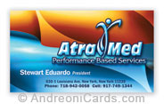 Business card with glossy  lamination sample