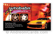 Business Card Design Samples for AutoBahn