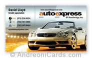 Business card design sample - Auto Express