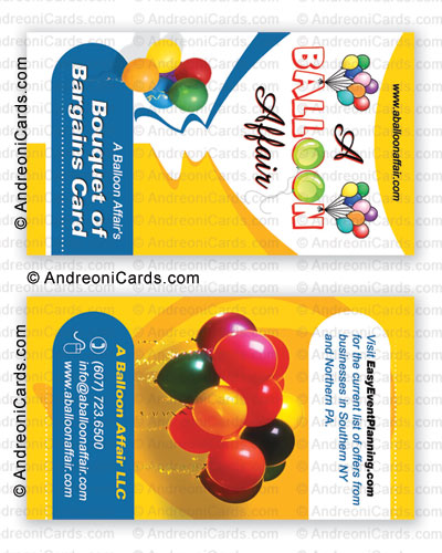 Business card design sample | Balloon affair