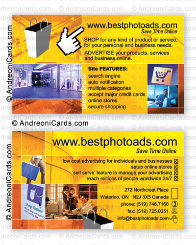 Business card design sample with glossy lamination | Bestphotoads