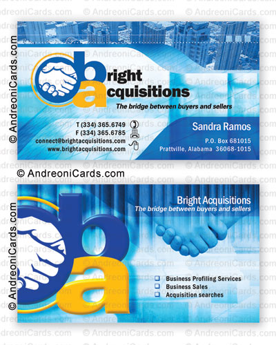 Business card design sample | Bright Acquisitions