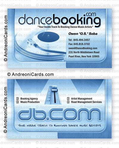 Business card design sample | Dance Booking