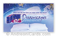Business card design sample - Dreamscapes