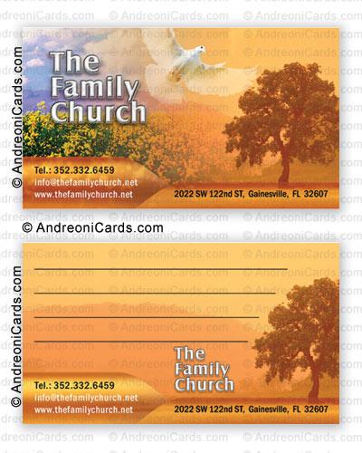 Silky business card design sample family church colourmoves