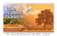 Business card design samples for Family Church