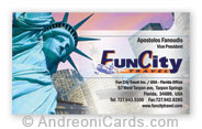 Business Card Design Sample For Fun City