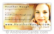 Business card design sample for Heather