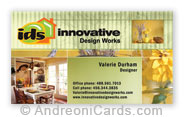 Silky business card samples