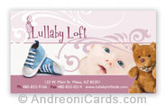 Lullaby business card design sample