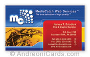 Business card sample for Media Catch