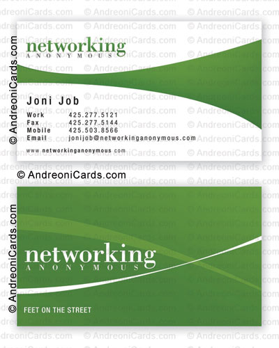 Business card design sample with silky lamination | Networking