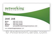 Business card design samples networking business card design sample reheart Image collections
