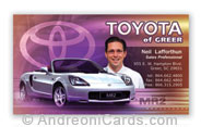 Toyota business card design sample