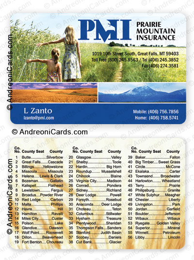 Plastic directory card