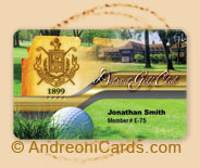 Detroit Golf plastic membership card