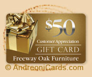 Freeway plastic gift card