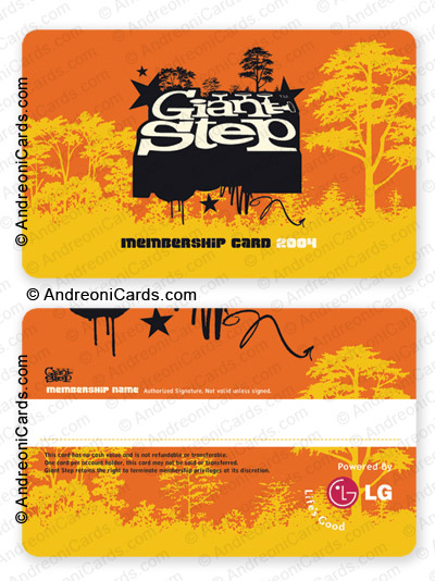 Plastic membership cards  | Giant Step
