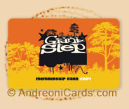 GiantStep plastic membership card