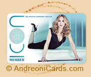 madonna plastic fan club card sample