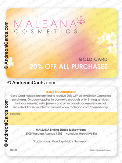 discount card design sample | Maleana